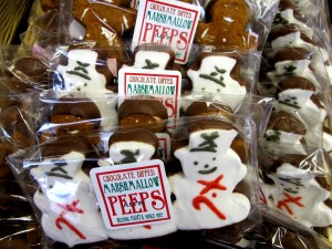 Snowman peeps for all your peeps, from Alps Sweet Shop.