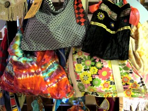 Bags made from recycled clothing by Baggage of Beacon, $15 to $60.