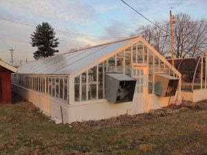 An exsiting greenhouse on the site.