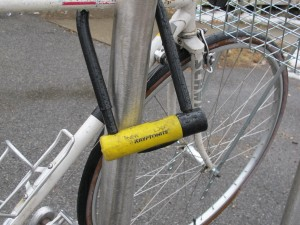 At least one reliable lock is mandatory. Having some kind of cable or chain lock in addition to a U-lock can be helpful if the bike will be locked up for longer periods.