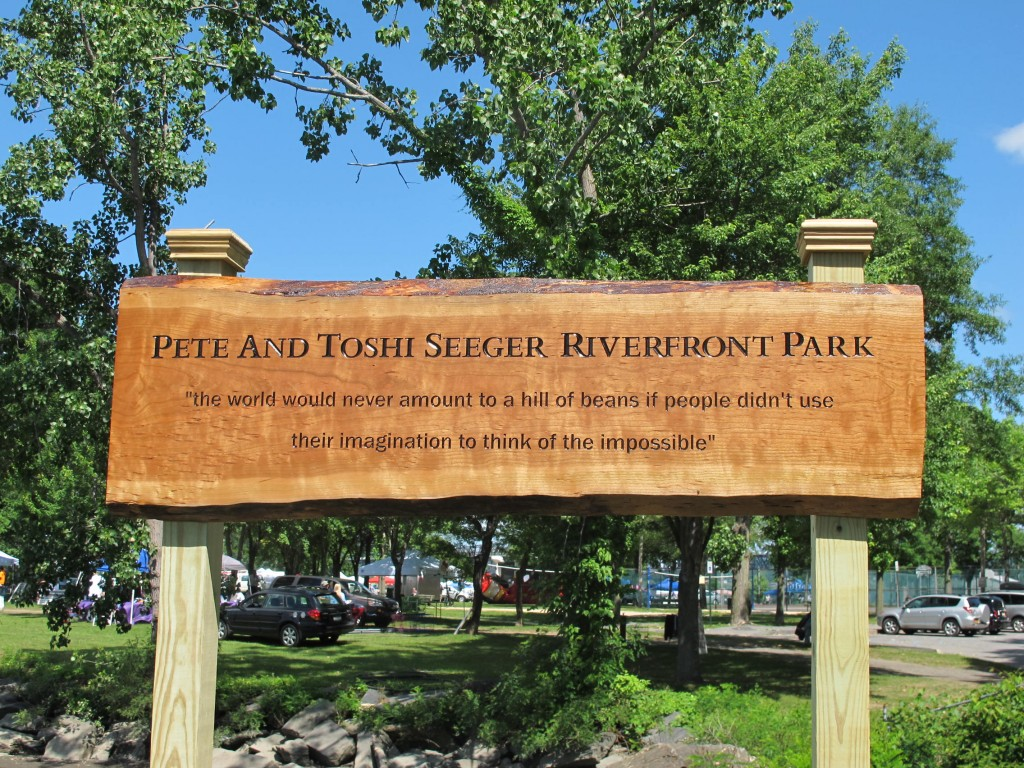 Ceremony Dedicating Park To Pete and Toshi Held At Strawberry Festival