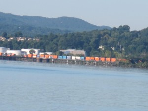 Another freight train goes by. No sign of oil tankers on this one.