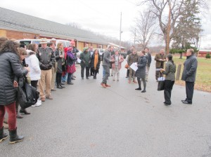 A good number of folks showed for the tour of the former prison.