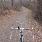 Just off the paved Dave Miller Connector, the trail runs for a couple hundred yards through the woods.