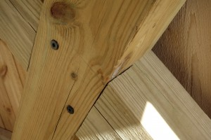 ...and an attractive, quasi-post and beam construction.