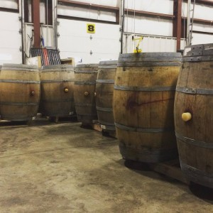 Large wine barrels were recently delivered, in preparation for barrel-aged beer at the Grand Opening.