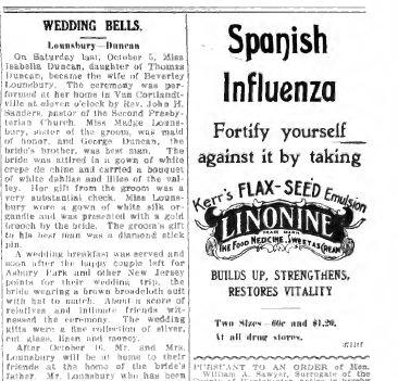 Spanish Influenza palliative